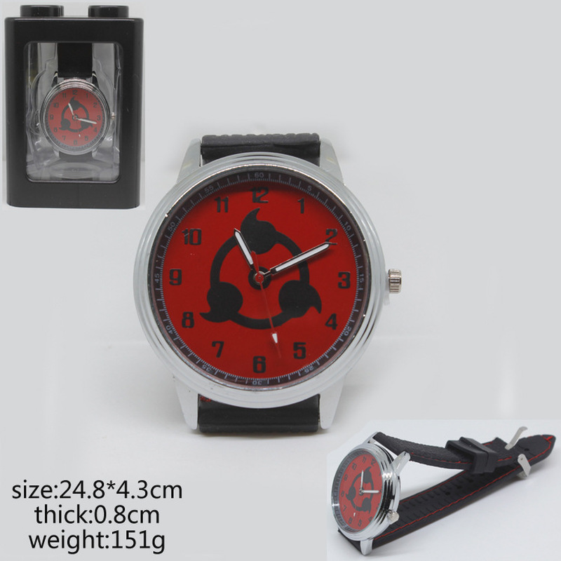 Novelty & Special Use Naruto Uchiha Sasuke Sharingan Dynamic Rotate Led Watch Waterproof Touch Screen Digital Light Wristwatch Cosplay Props Gift New Quality First