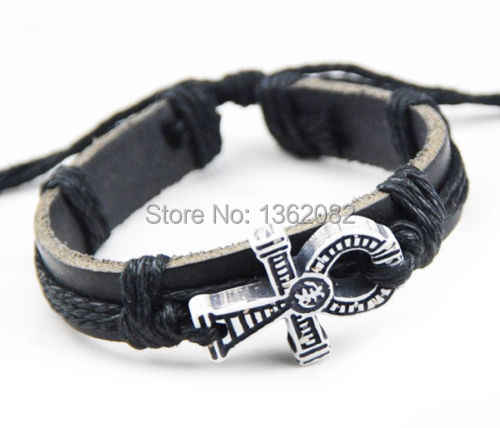 Bracelets en cuir pour hommes et femmes bracelet collier ensembles de bijoux cadeau TZ02