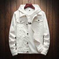 New Spring Autumn Casual Denim Jacket Men Fashion Streetwear White Jacket Cotton students cowboy lovers jean coat solid wash