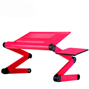 Image 2 - New High Quality Multi Functional Ergonomic Mobile Laptop Stand Portable Laptop Table Foldable With Mouse Pad Notebook Desk