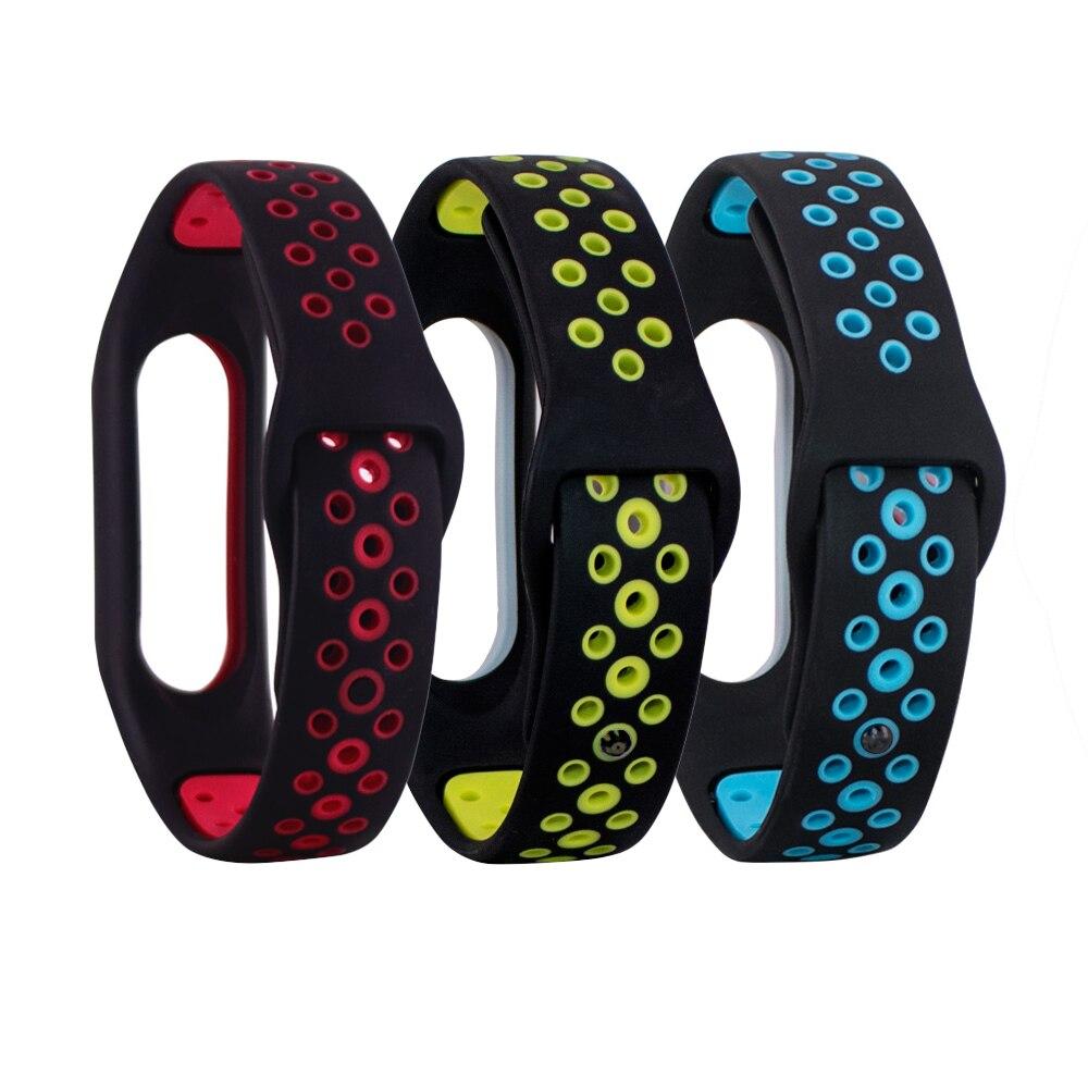 Colorful Bracelet For Xiaomi Mi Band 2 Strap Silicone Strap For Mi Band 2 Bracelet Wristbands Band Wrist Strap For Mi Band 2