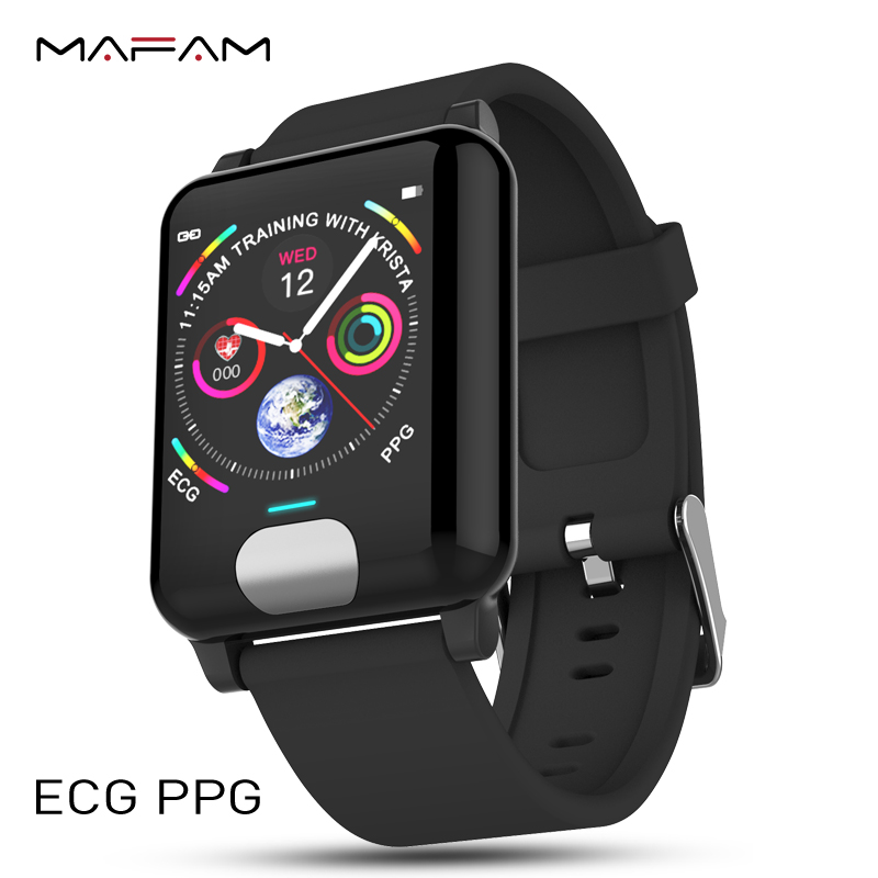 MAFAM ECG PPG Smart Watch Men Women Blood Pressure Heart Rate Monitor Fitness Tracker Smart Bracelet Watch Clock For IOS Android