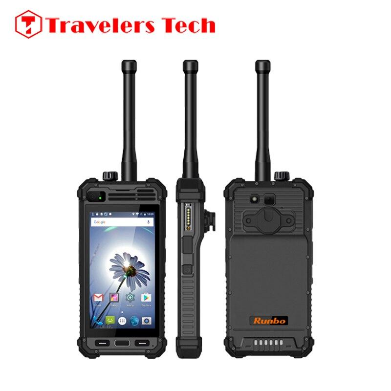 Цена за Runbo M1 DMR Аналоговых Walkie Talkie 4 Г LTE Мобильный Телефон IP67 Прочный водонепроницаемый 5300 мАч 2 ГБ RAM 16 ГБ ROM Android 6.0 NFC PK X6 H1