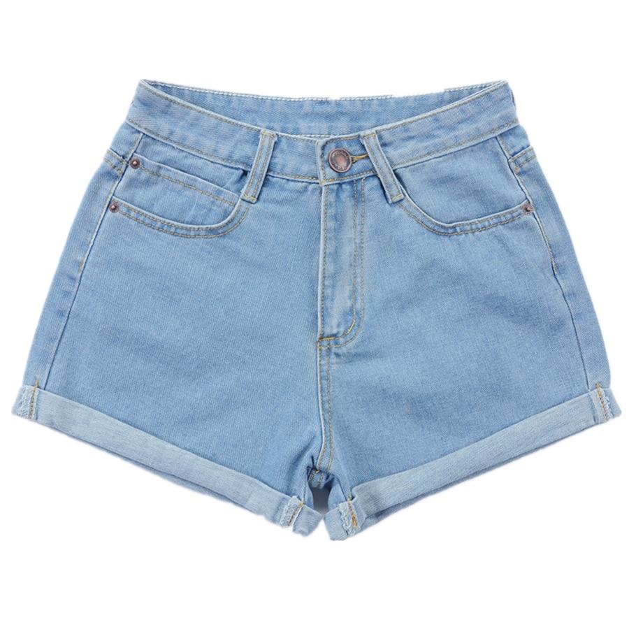 New 2017 Summer High Waist Denim Shorts Blue Casual lager size Female Women Short Jeans Ladies loose Denim Shorts 26-32 S2033
