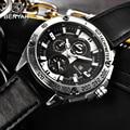 BENYAR мужские часы 2019 часы Мужские кварцевые часы лучший бренд Роскошные мужские военные часы хронограф кожаный ремешок zegarek damski