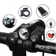 Велосипед свет регулировать угол велосипед светодиодный спереди T6 фонарик USB двойного назначения Перезаряжаемые Батарея Велоспорт фары для велосипеда