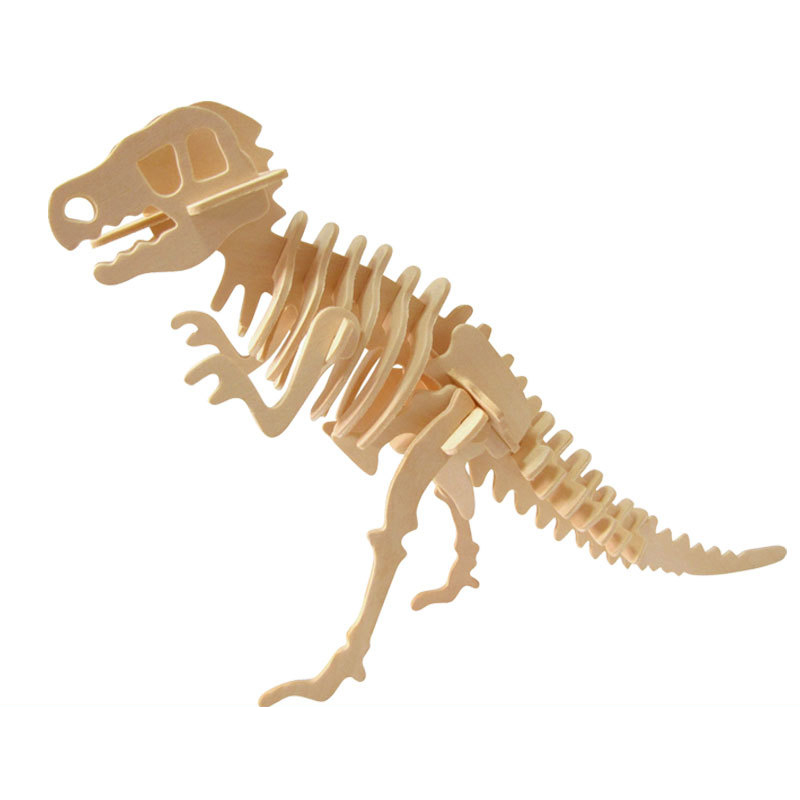 Image 5 - DIY dinosaur puzzle 3D three dimensional wooden children's educational toys pupils handmade materials-in Puzzles from Toys & Hobbies