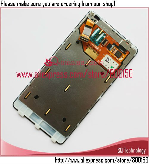100% Guarantee LCD for Nokia Lumia 800 N800 Display with Touch Screen with Digitizer Assembly free shipping
