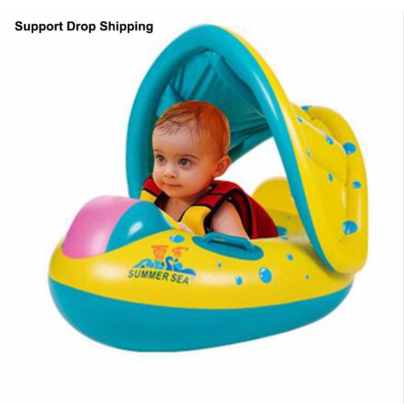 Baby Kids Inflatable Swimming Circle Rings wheels pool