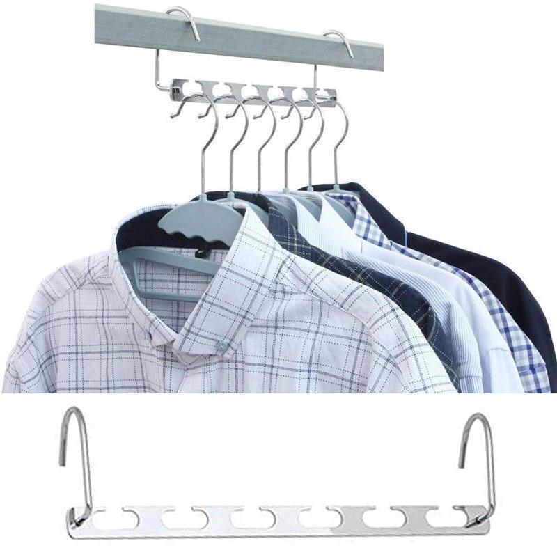 2pcs Metal Cascading Wonder Hangers Space Saver Closet Organizer Clothes Rack US