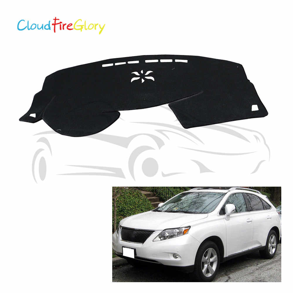 CloudFireGlory For LEXUS RX 350 450H 2010 2011 2012 2013 2014 2015 Black Dashmat Pad Dashboard Sun Shade Cover Carpet LHD