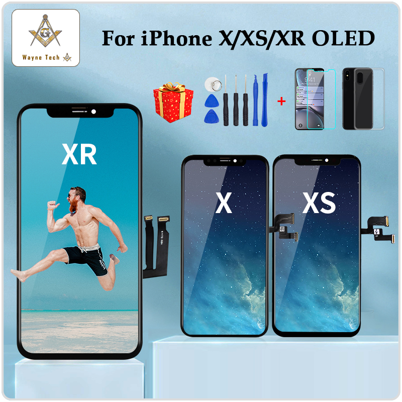 High Quality AMOLED For IPhone X XS XR Display OLED For IPhone X AMOLED Display Screen Replacement With 3D Touch Free Shipping