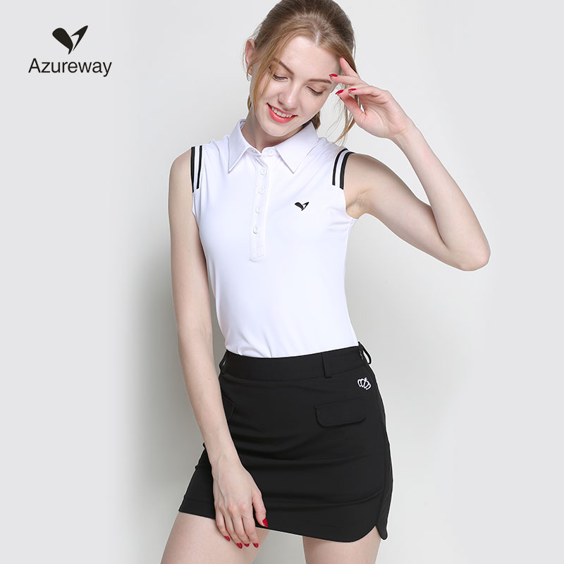 Lady golf shirts women sports jersey sleeveless 3 colors S~XXL girl polo T shirt golf apparel breathable tops white navy red