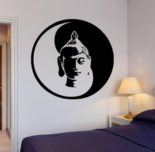 Free Shipping Wall Sticker Buddha Yin Yang Yoga Meditation Vinyl OM Decal Home Decor for Living Room KW-183
