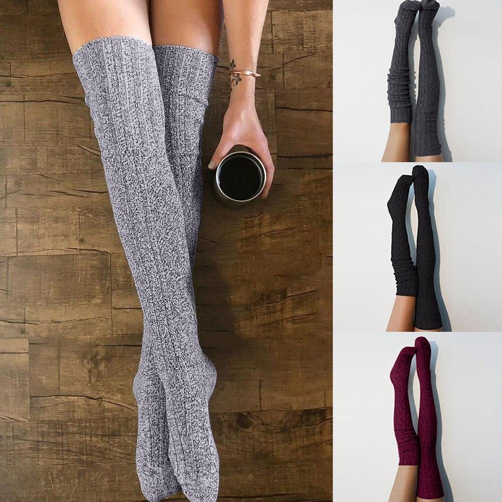 Women Crew Socks Thigh High Knee Duck In Lake Long Tube Dress Legging Soccer Compression Stocking