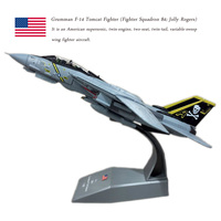 AMER 1/100 Military Model Toys F14 Tomcat F 14A/B AJ200 VF 84 Fighter Diecast Metal Plane Model Toy For Collection/Gift