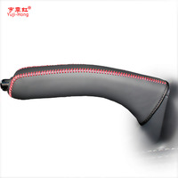 Handbrake Covers Case For KIA Sportage R Car Styling Genuine Leather Handbrake Lever Grips Black