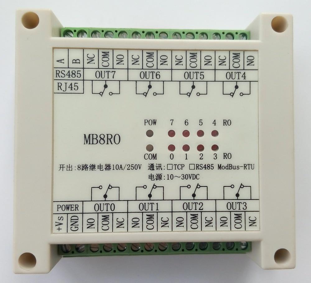 Schaltausgang modul 8 relaisausgang isolation typ MODBUS RTU RS485 ...