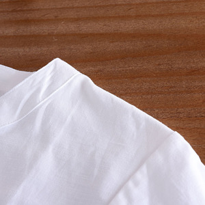 Image 4 - 中国風のリネンシャツプラスサイズ 4XL/5XL 男性カジュアル通気性白ソフト構図シャツカミーサ masculina TX55
