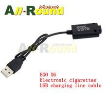 Wholesale DHL free shipping  Good Quality EGO USB charger for EGO series Electronic Cigarette Charging USB Cable charger wire
