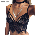 Sexy Lace Tops For Women Triangle Female Underwear Lingerie Strappy Bralette Lace Bra Hollow Out Ladies Summer Crop Top