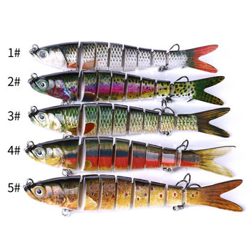 13.7cm 27g Sinking Wobblers 8 Segments Fishing Lures Multi Jointed Swimbait Hard Bait Fishing Tackle For Bass Isca Crankbait 2