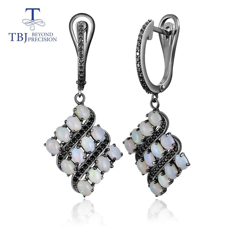 TBJ 2019 new natural opal earring 925 sterling silver fine jewlery for women wife anniversary best