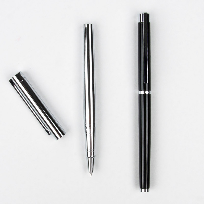 Hot New Jinhao 126 Executive Complete Silver Fine Hooded Nib Fountain Pen