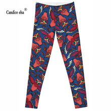 Hot Sexy sale new arrival Novelty 3D printed fashion Women leggings of  RED OWL space galaxy tie dye fitness pant free shipping