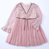 Toddler Girls Dresses Summer 2017 Green Pink White Lace Appliques Flowers Mesh Straps A Line Party