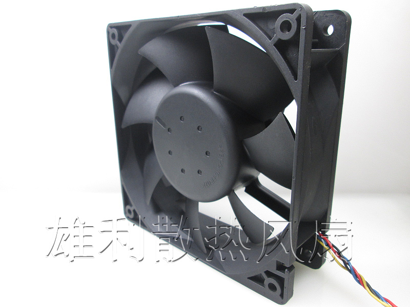 Free delivery.AFC1212DE MJ989 12V 1.60A 12038 12CM 4-wire large air volume fan