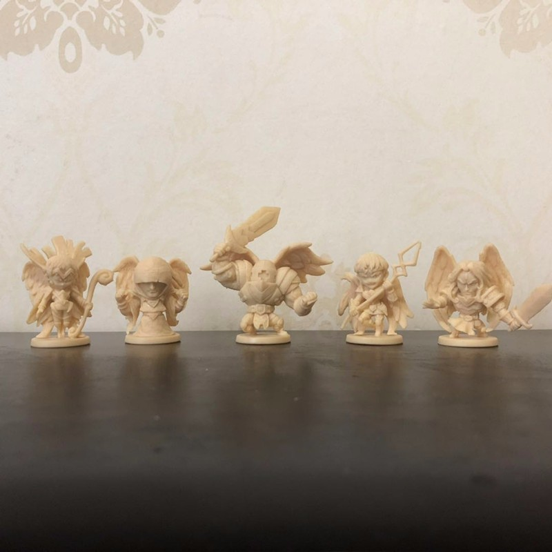 Arcadia Quest <font><b>Resin</b></font> <font><b>Figures</b></font> Model 5 Pieces Angel Suit DIY Kit Free Shipping image