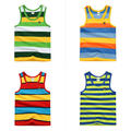 Детская одежда ребенка летом ребенок мужского пола жилет 100% хлопок ребенок мужского пола жилет 2015 лето детские рукавов