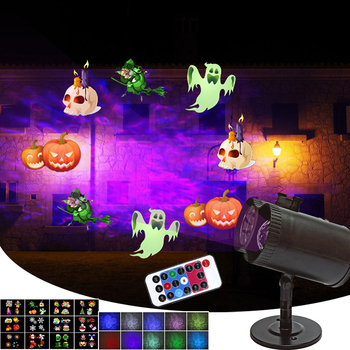Water Wave Projection Light Storm Snowflake Film Christmas Projector Lights Lawn Light With 12 Patterns For Halloween Birthday цена 2017
