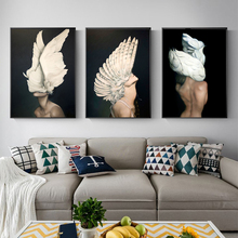 Wings Women Surreal Artwork Posters and Prints Wall art Decorative Picture Canvas Painting For Living Room Home Decor Unframed