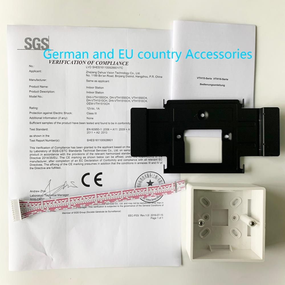 AHUA multi-langue CE VTH1550CH 7 pouces tactile moniteur intérieur, précision internationale, sonnette IP, interphone vidéo, sonnette filaire - 6