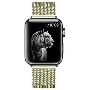 Ремешок для часов Eastar из нержавеющей стали с двойной пряжкой, Миланская петля для Apple Watch 5/4/2/1, 42 мм, 38 мм, ремешок для iwatch Band
