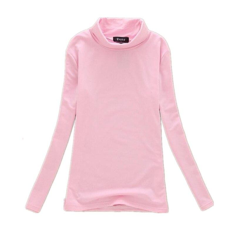 Hot Sale New Fashion Women Turtleneck Long Sleeve T