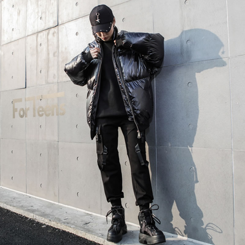 Pu Femelle Stand Nouveau Lyh2567 Femmes Manches Hiver Mode Solide Manteau Printemps Streetwear Lâche xitao Complet Collier Parka Couleur Black De fU7ZqnzE