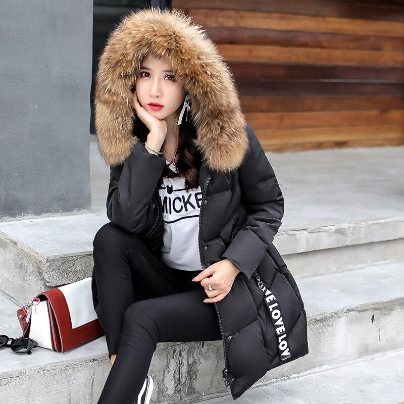 Manteau pourpre Dames Chaud Noir Parkas Lâche Fourrure Manteaux Vestes Veste orange Coton Outwear Casual Longue À De Femmes Nouveau Mode D'hiver 2018 Col marron Capuchon qvwXSq4