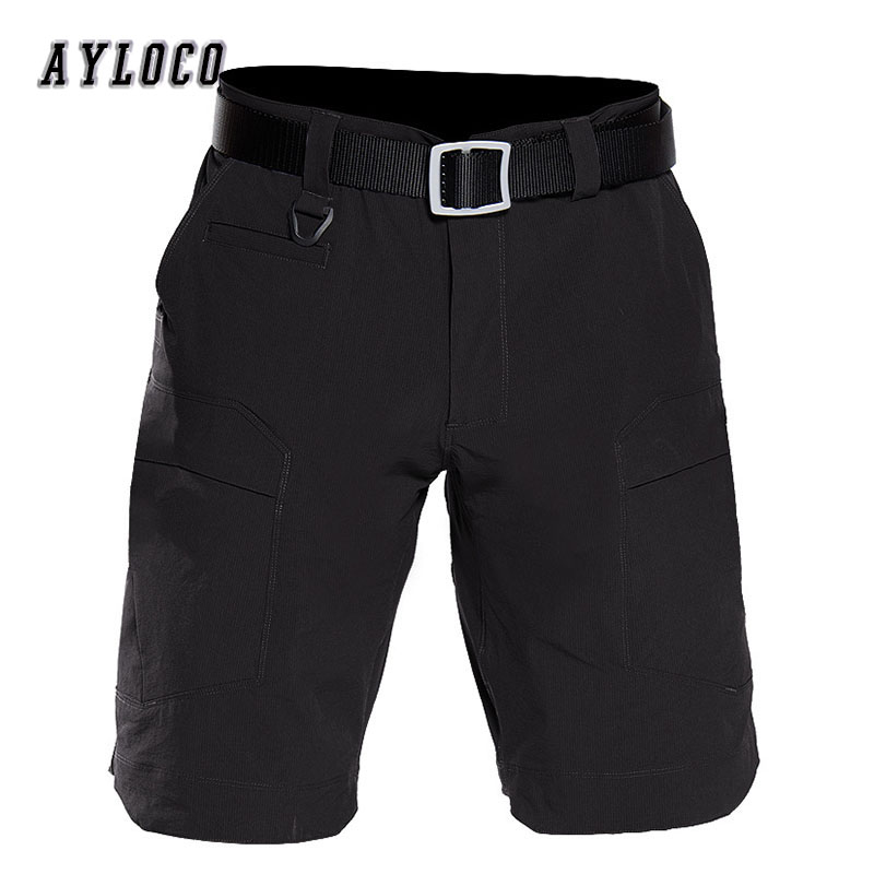 Summer Tactical Cargo Short Thin and Soft Lightweight Shorts Mens Elastic Quick Dry Casual Loose Combat short pants