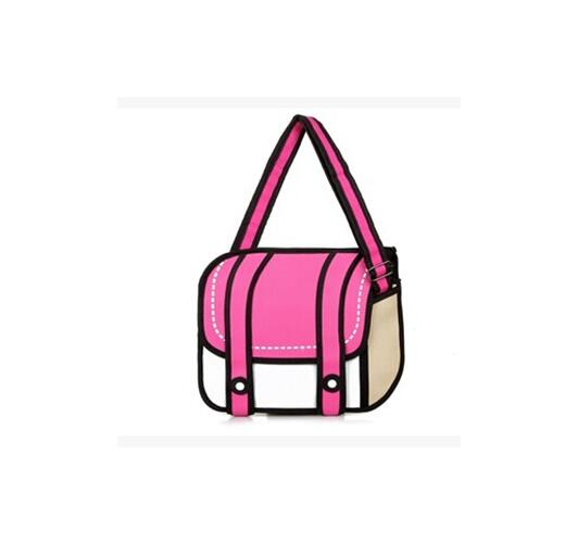 New Fashionable 2d Bags Novelty Back To School Bag Drawing Cartoon Comic Handbag Lady Shoulder Messenger 6 Color Gifts In From Luggage
