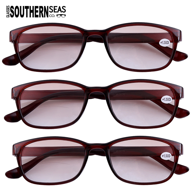 6e4eeb204ff9 3x Tinted Bifocals Reading Glasses Everyday Use Sun Readers Eyewear Mens  Womens Home Office Spectacles +1.0 to +4.0 Black Brown-in Reading Glasses  from ...