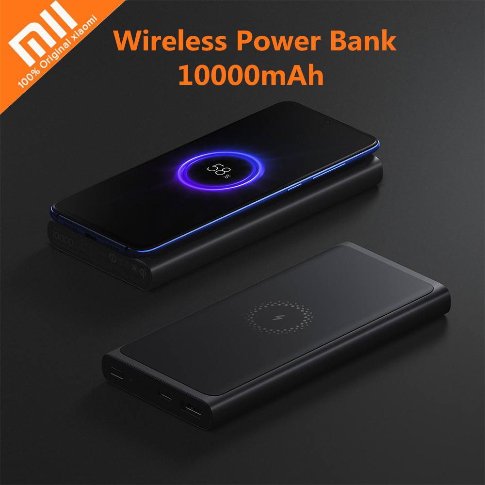 Xiaomi Wireless Power Bank 10000mAh Portable Mobile Charger Mi Powerbank Fast Charger USB-C 18W For IPhone Samsung Xiaomi(China)