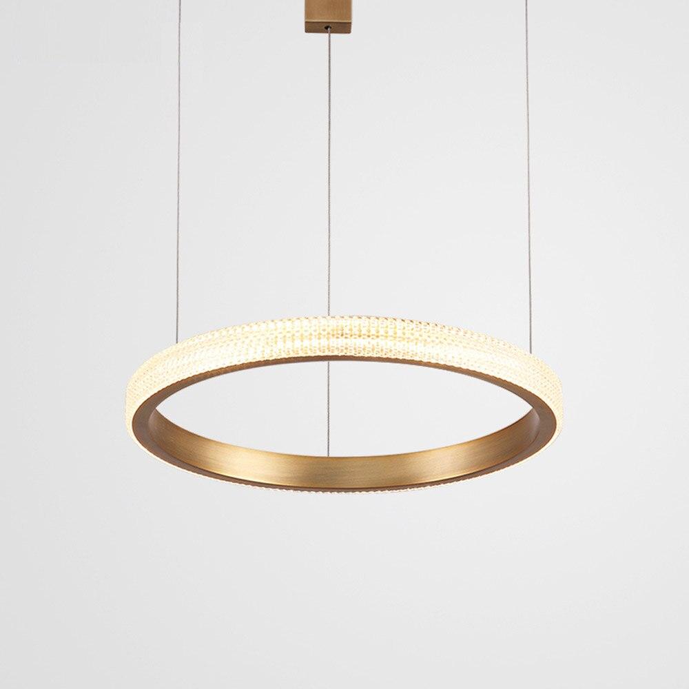 Brief Design Modern LED Chandelier Lamp Aluminum Gold Chandelier Living Lighting And Projects Lights