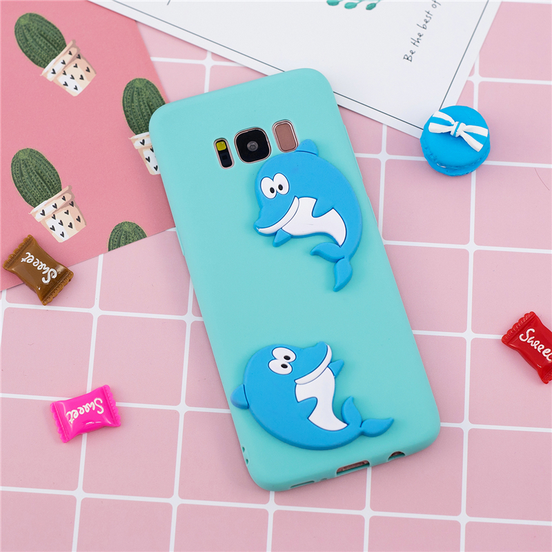 3D Silicone Phone Case For Samsung Galaxy S6 S7 Edge S8 S9 S10 Plus S10 Lite A6 A8+ Plus A7 A9 2018 Cover Panda Dog Cases Coque