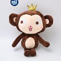 Crown monkey doll plush toy monkey Monkey mascot creative New Year gift