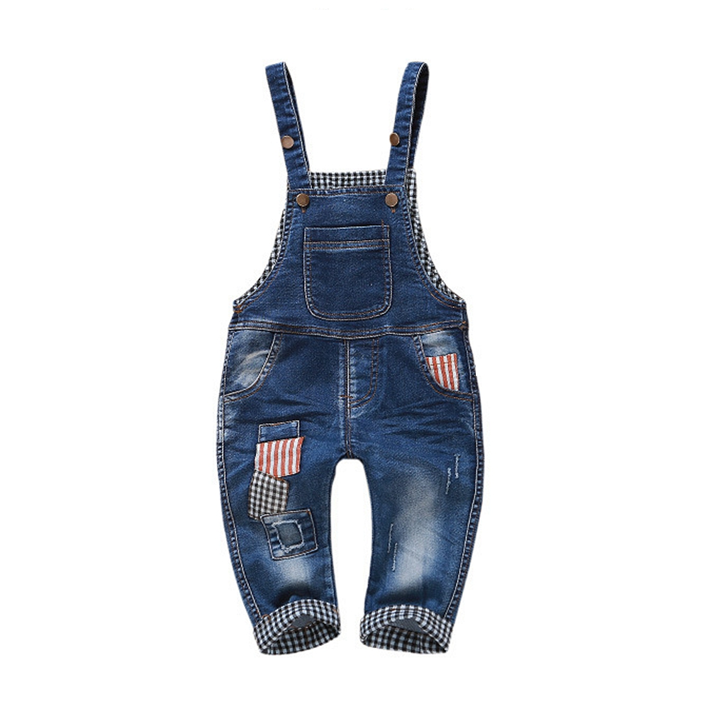 1-4T Kids Denim Overalls Baby Pants Bebe Clothes Girls Boys Jeans Jumpsuit Children Rompers Toddler Clothing Baby bib Overalls free shipping 2017 new fashion summer denim bib pants loose plus size 3xl jumpsuit and rompers women shorts cotton jeans casual