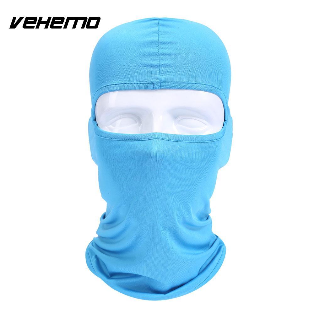 Vehemo аксессуары для улицы полная мотоциклетная маска для защиты лица шапки унисекс 14 цветов Практичная Балаклава лайкра защита удобный - Цвет: sky blue