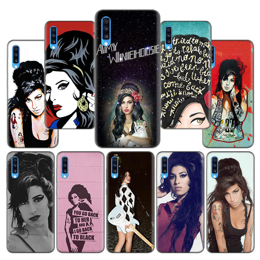 Amy Winehouse Motif Ultra-mince Coque Coque pour Samsung Galaxy A10 A20 A30 A40 A50 A60 A70 A80 A20e A6 A8 A7 A9 Plus 2018